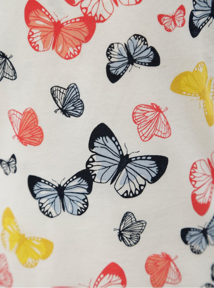 Bílé holčičí tílko se vzorem motýlů name it Vigga