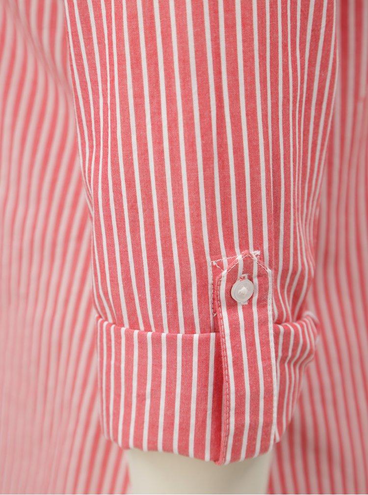 Camasa alb-rosu in dungi Dorothy Perkins