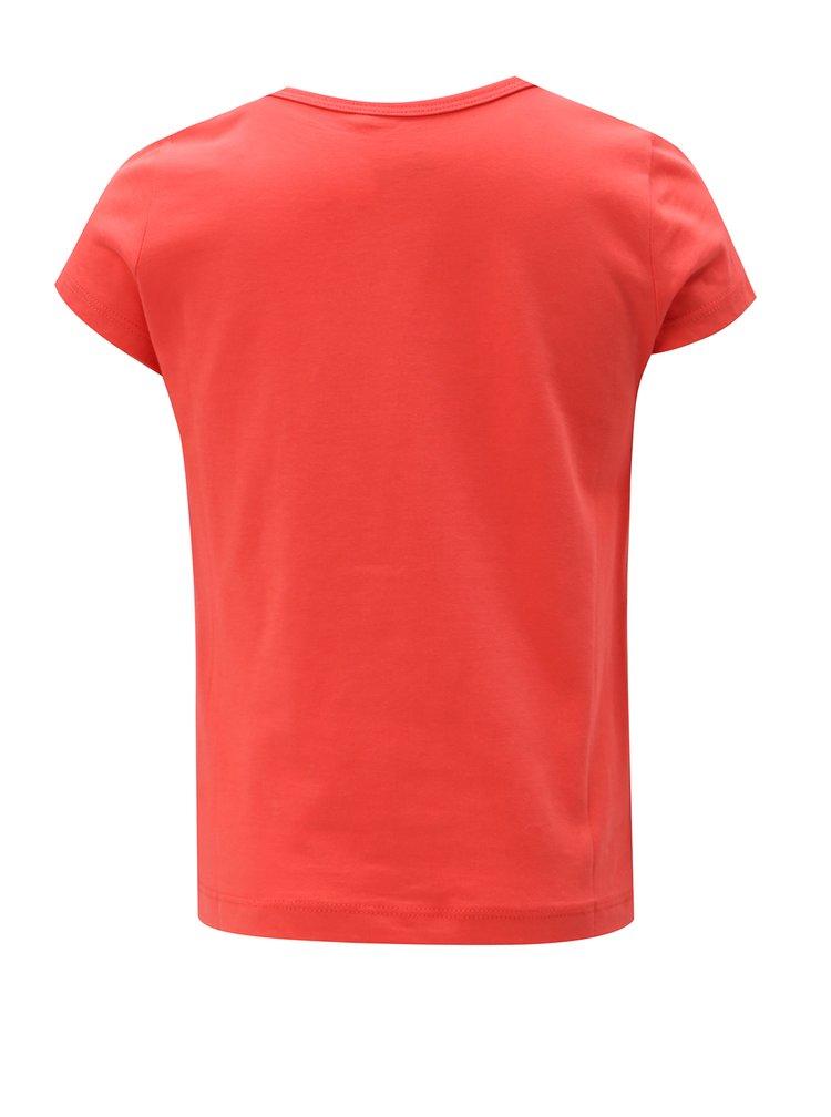 Červené holčičí tričko s magickými flitry name it Jip