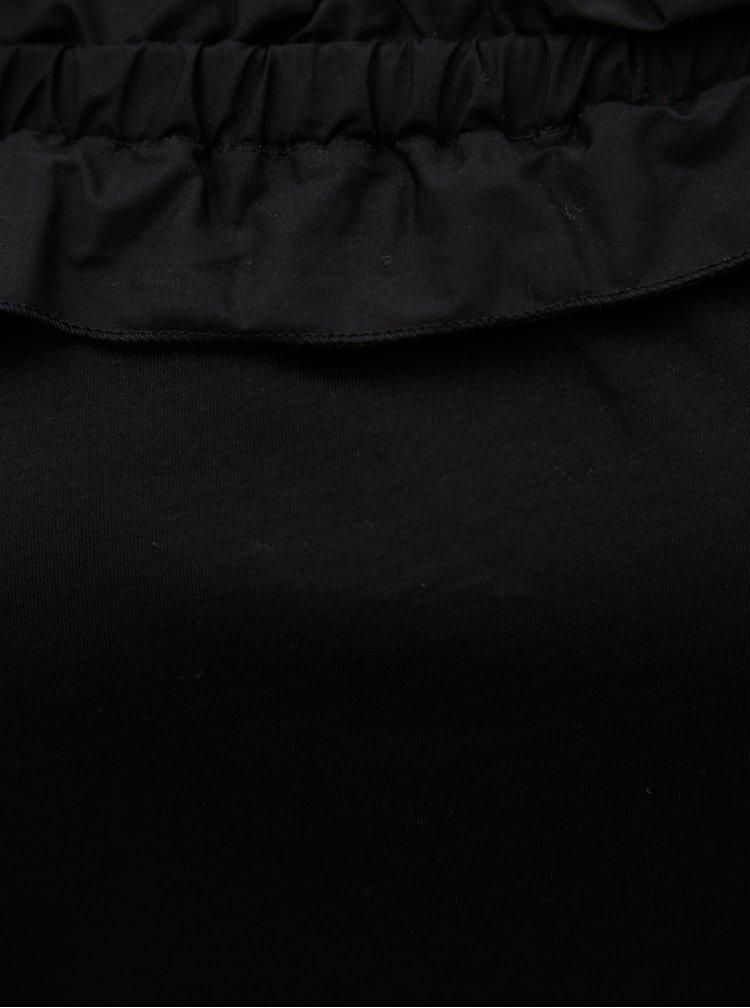 Bluza neagra cu decolteu pe umeri Dorothy Perkins Tall