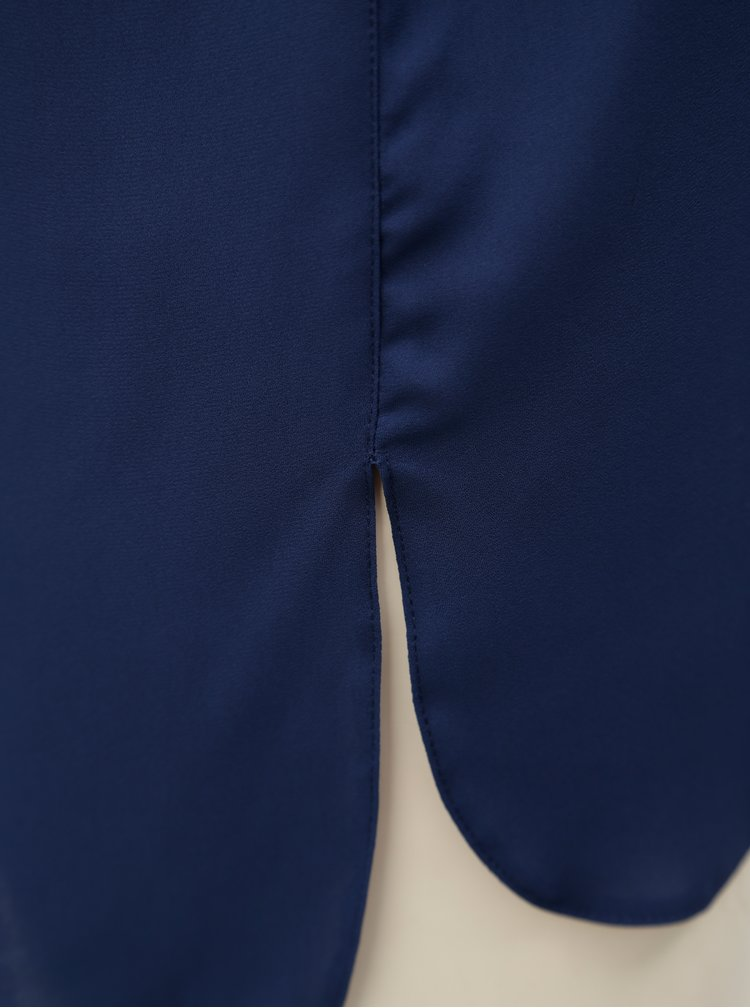 Tmavě modrá halenka bez rukávů Dorothy Perkins