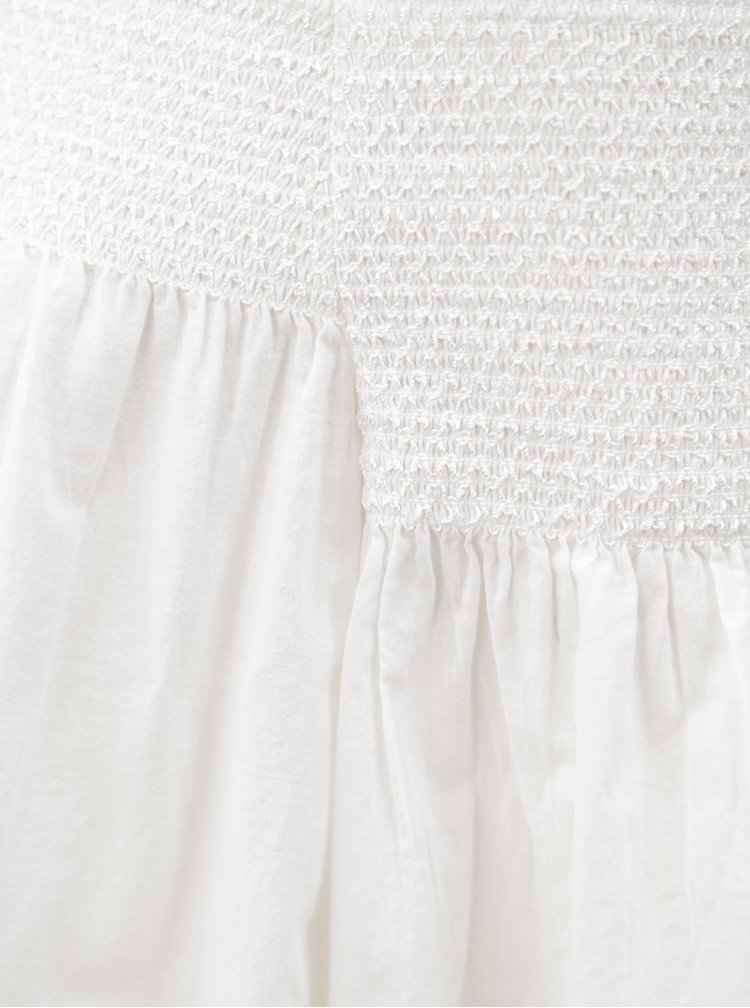 Bílá oversize halenka s odhalenými rameny Dorothy Perkins