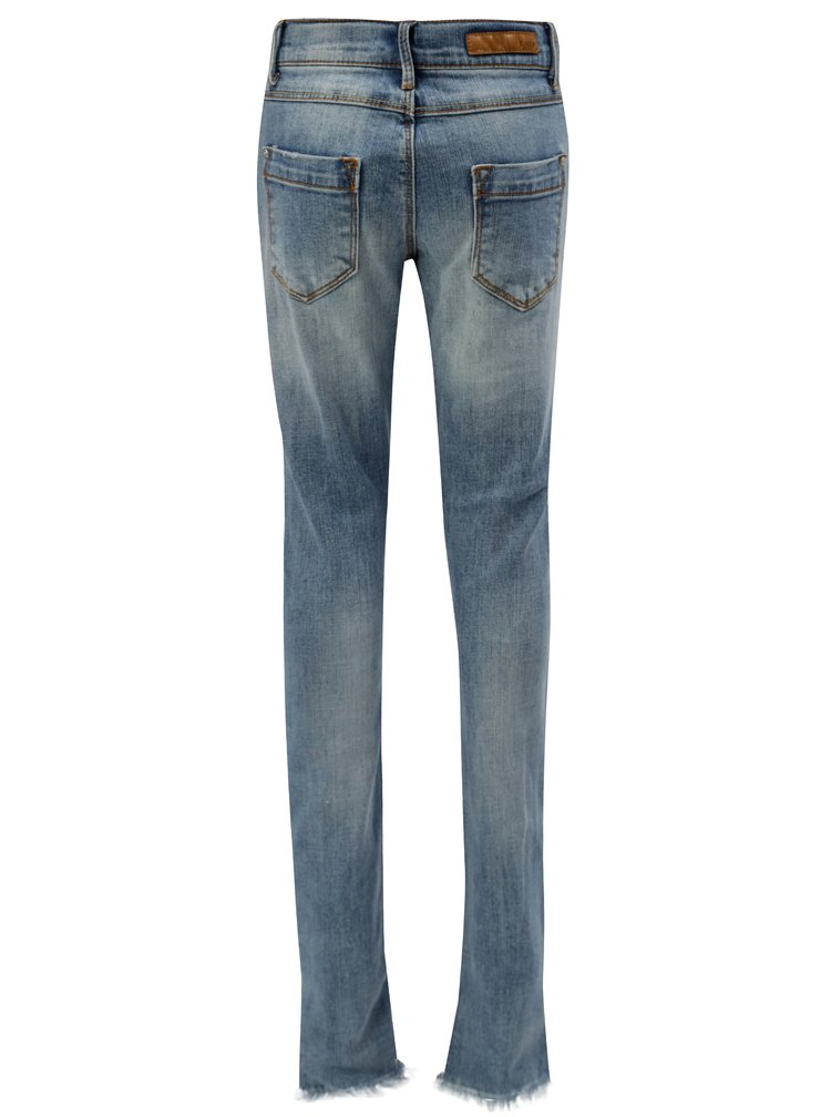 Modré holčičí skinny  džíny s potrhaným efektem LIMITED by name it Fpil