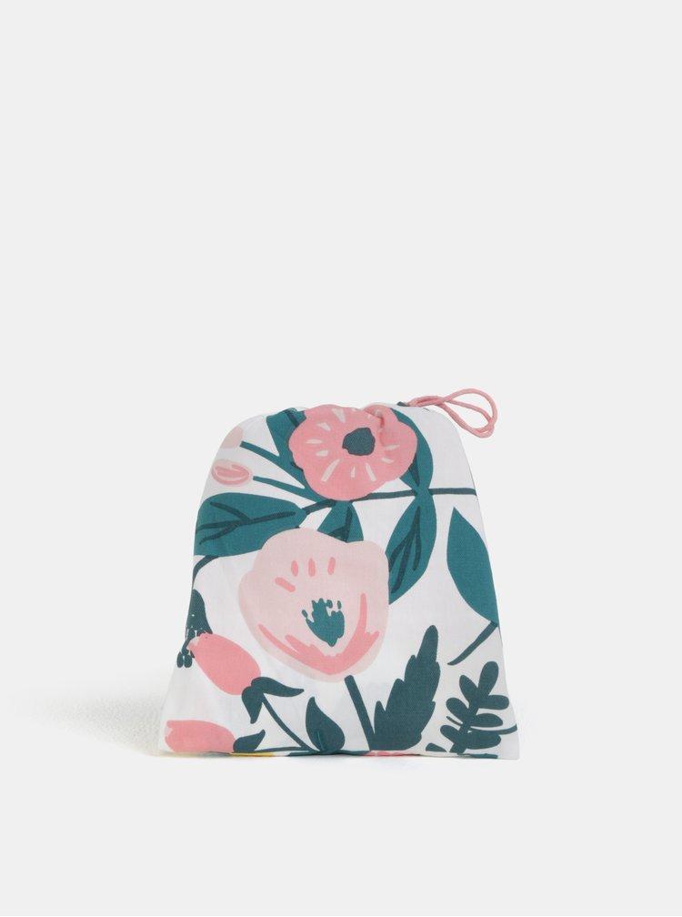 Růžovo-bílá květovaná zástěra s kapsou CGB