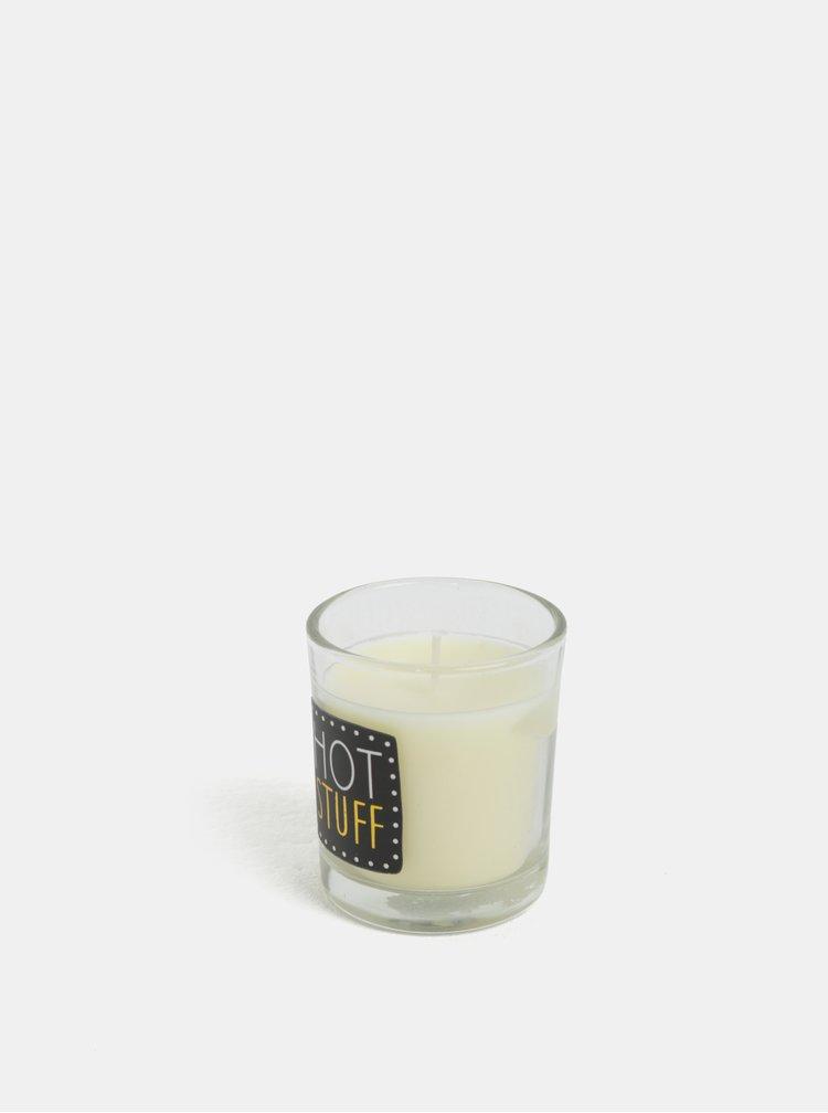 Lumanare negru-crem parfumata cu aroma de grepfrut si mango CGB