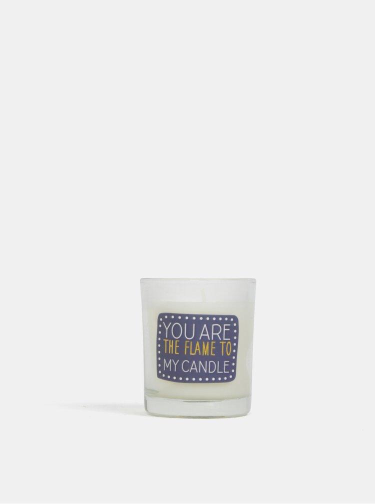 Modro-krémová svíčka s vůní vanilky CGB