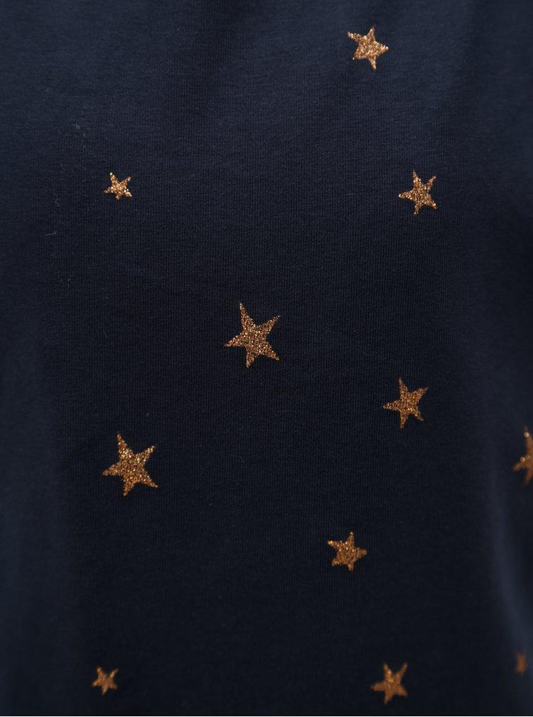 Tmavě modré holčičí vzorované tričko name it Vilske