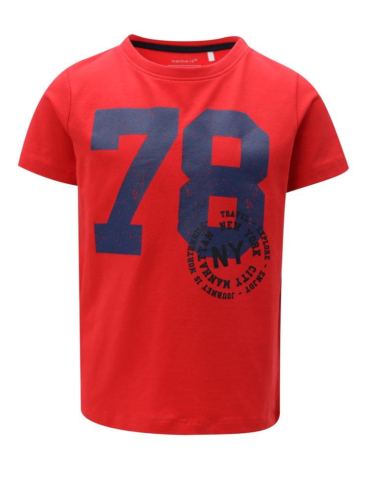Červené klučičí tričko s potiskem name it Ted
