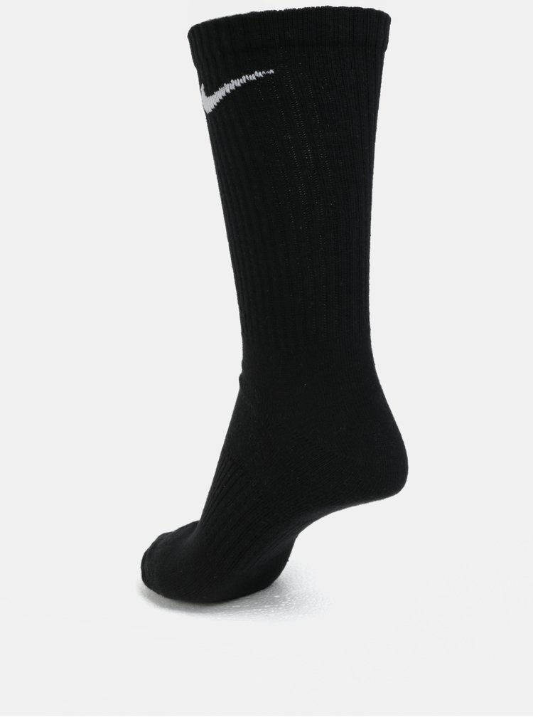 Sada tří párů ponožek v šedé, bílé a černé barvě Nike