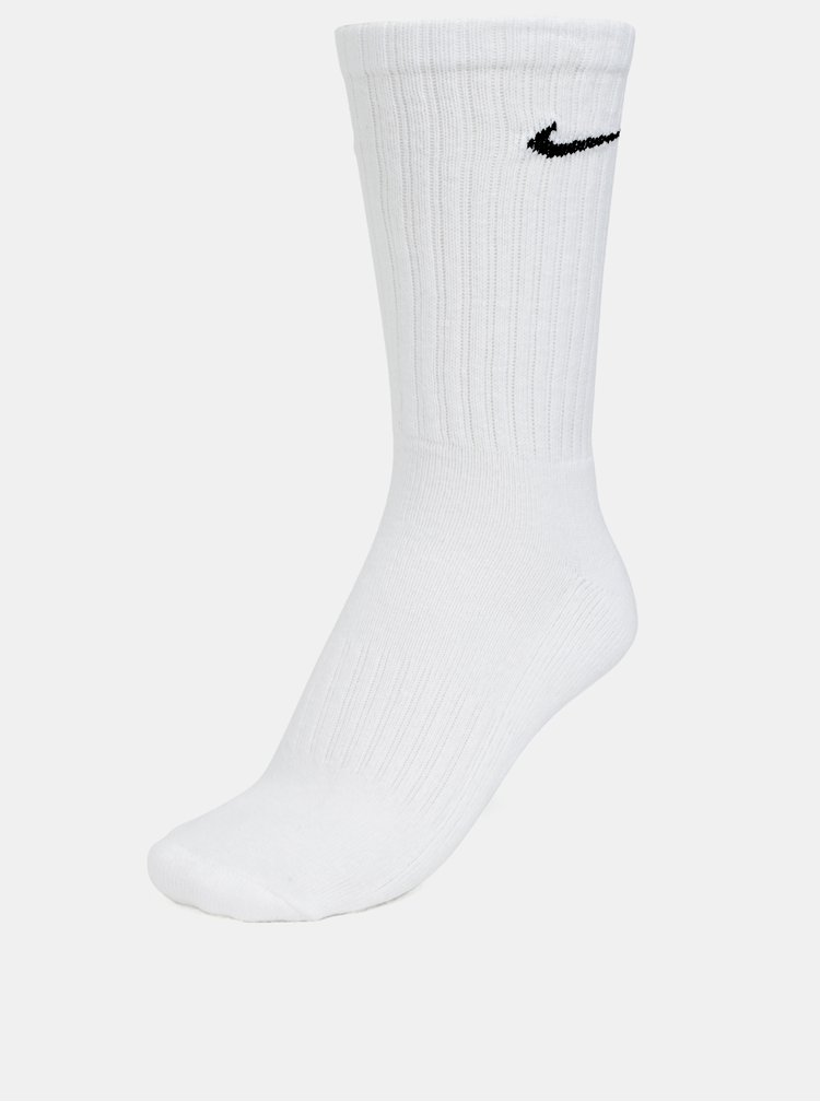 Sada tří párů ponožek v bílé barvě Nike Cushioned