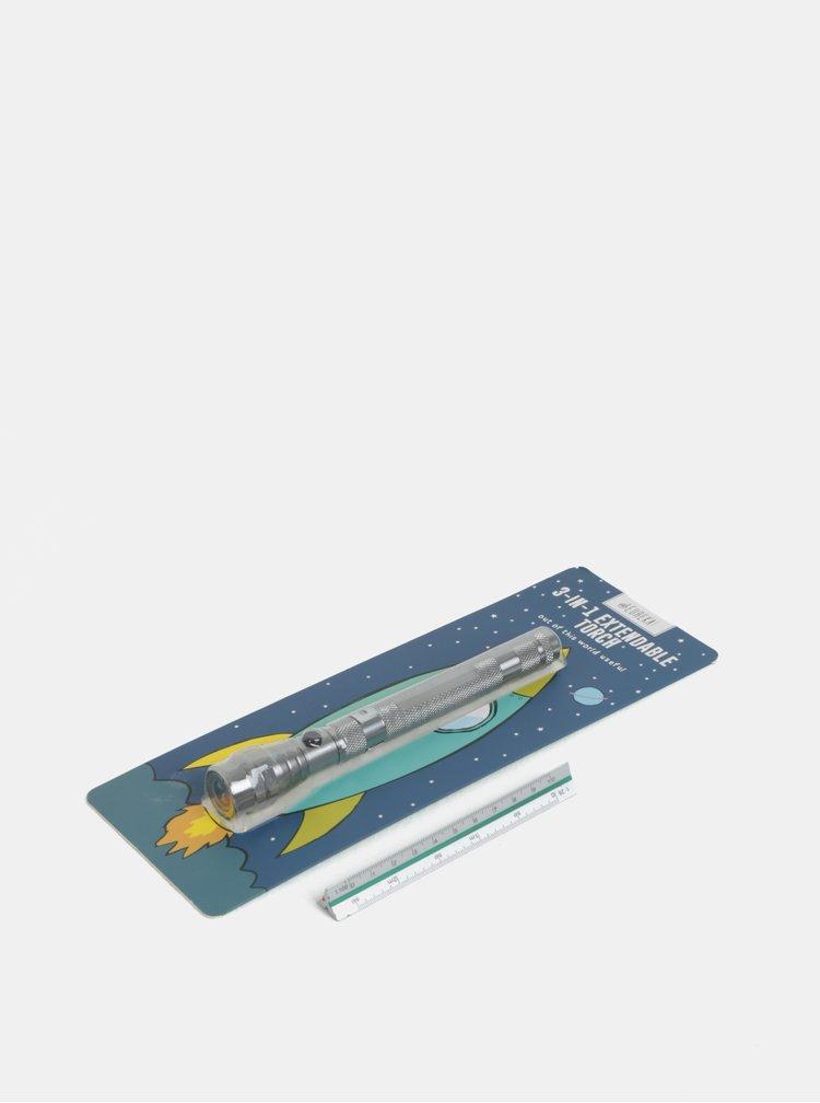Baterka ve stříbrné barvě s nastavitelnou délkou CGB