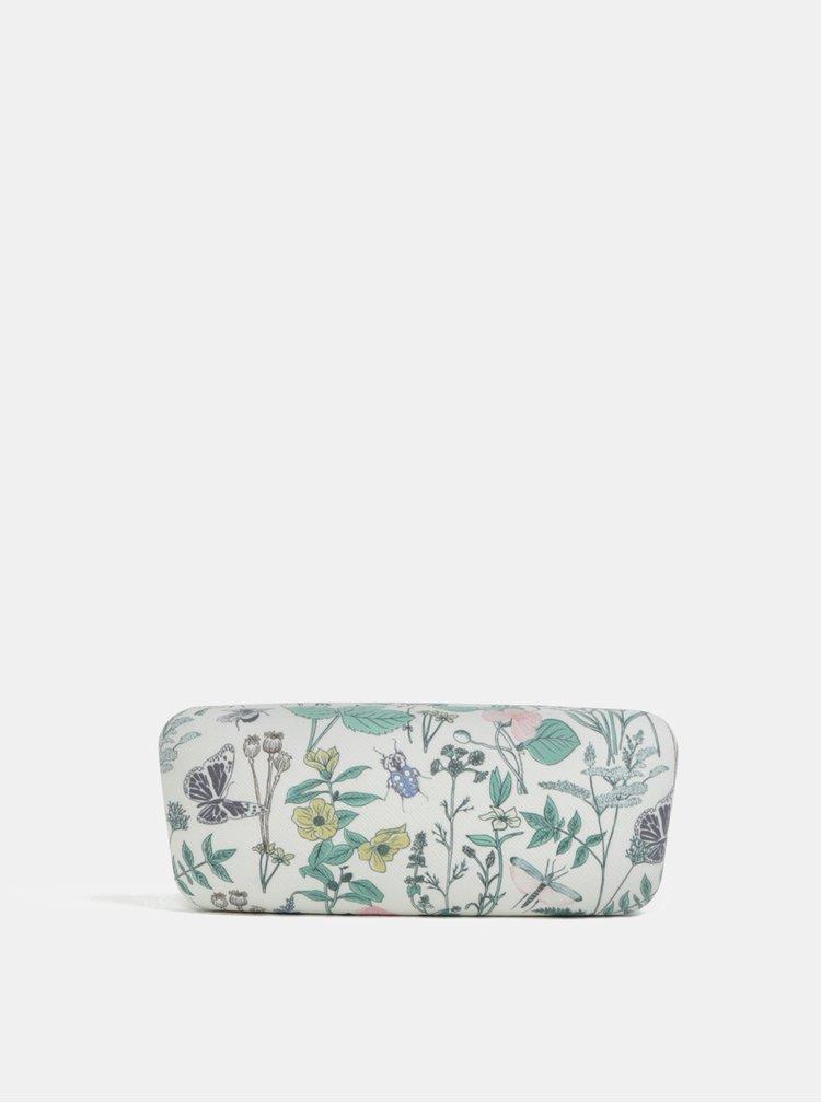 Bílé květované pouzdro na brýle CGB Thistle & Thorn