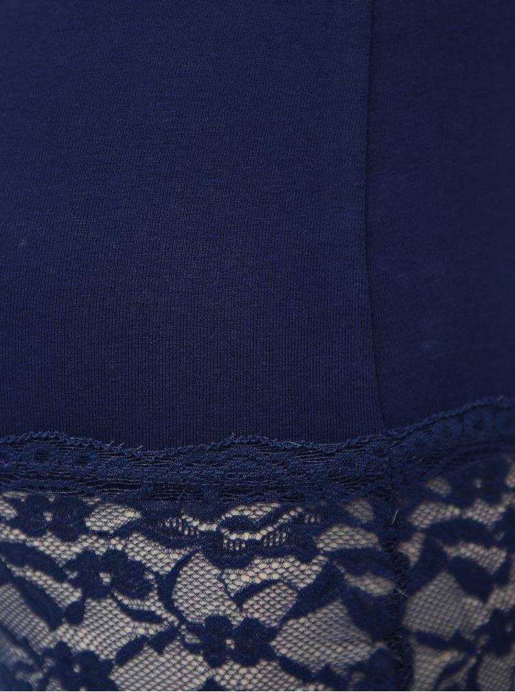 Modré tílko s krajkou ONLY Long Lace