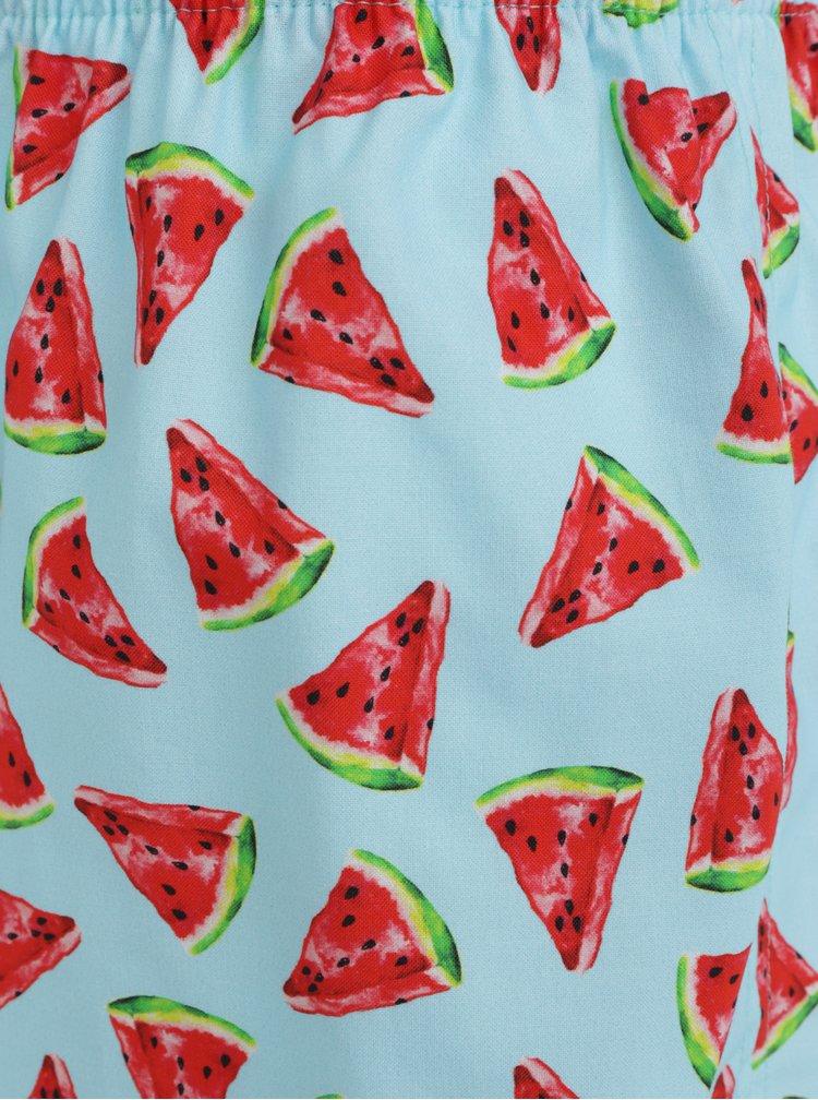 Světle modré pánské trenýrky s motivem melounů Slippsy Melon Boy