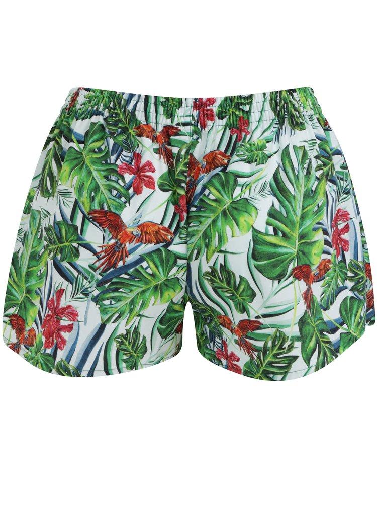 Bílo-zelené dámské trenýrky s tropickým vzorem Slippsy Jungle Girl