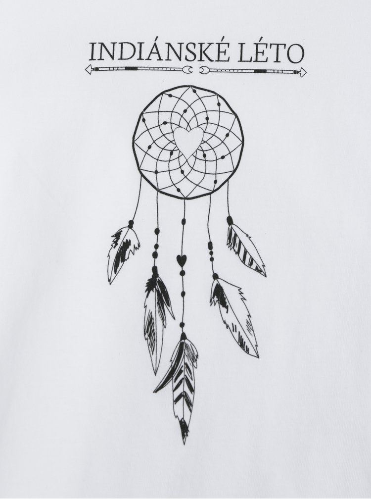 Bílé dámské tričko ZOOT Original Indian