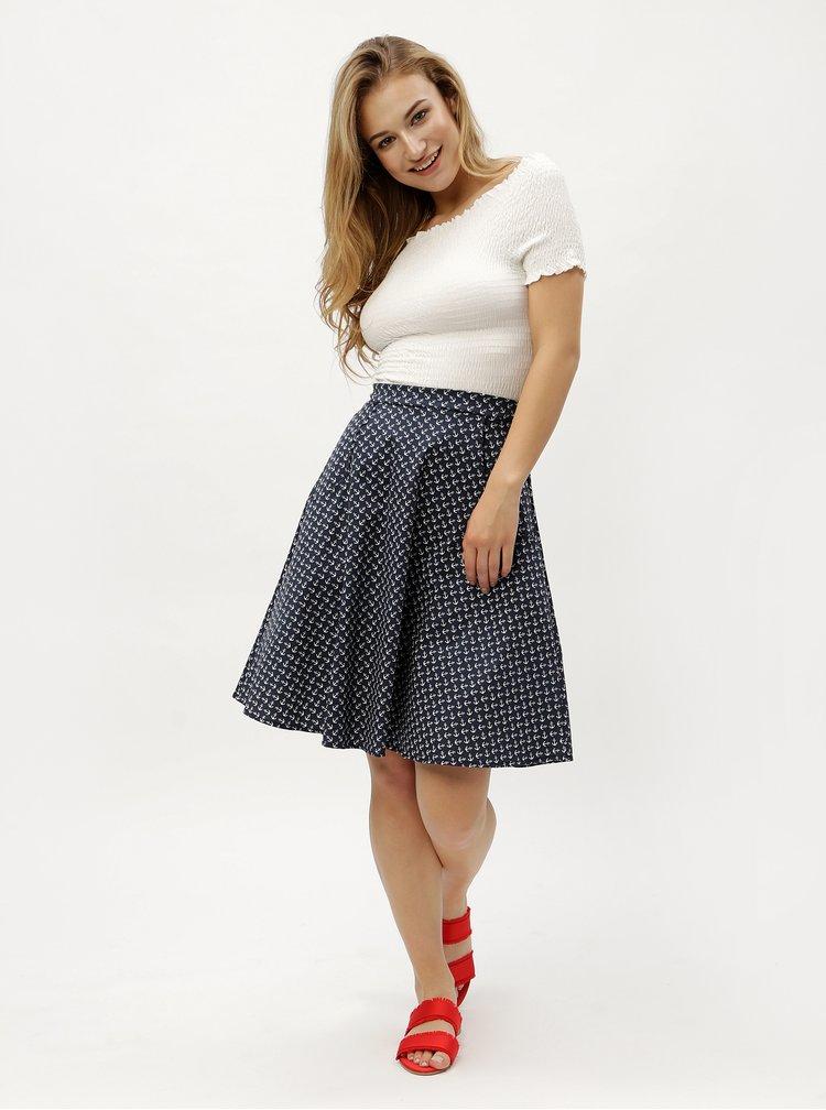 Tmavě modrá vzorovaná sukně ZOOT