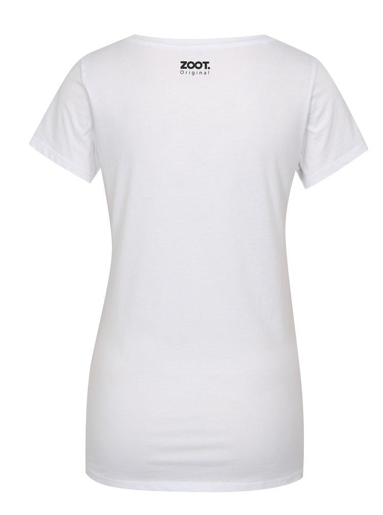 Bílé dámské tričko ZOOT Original Banan