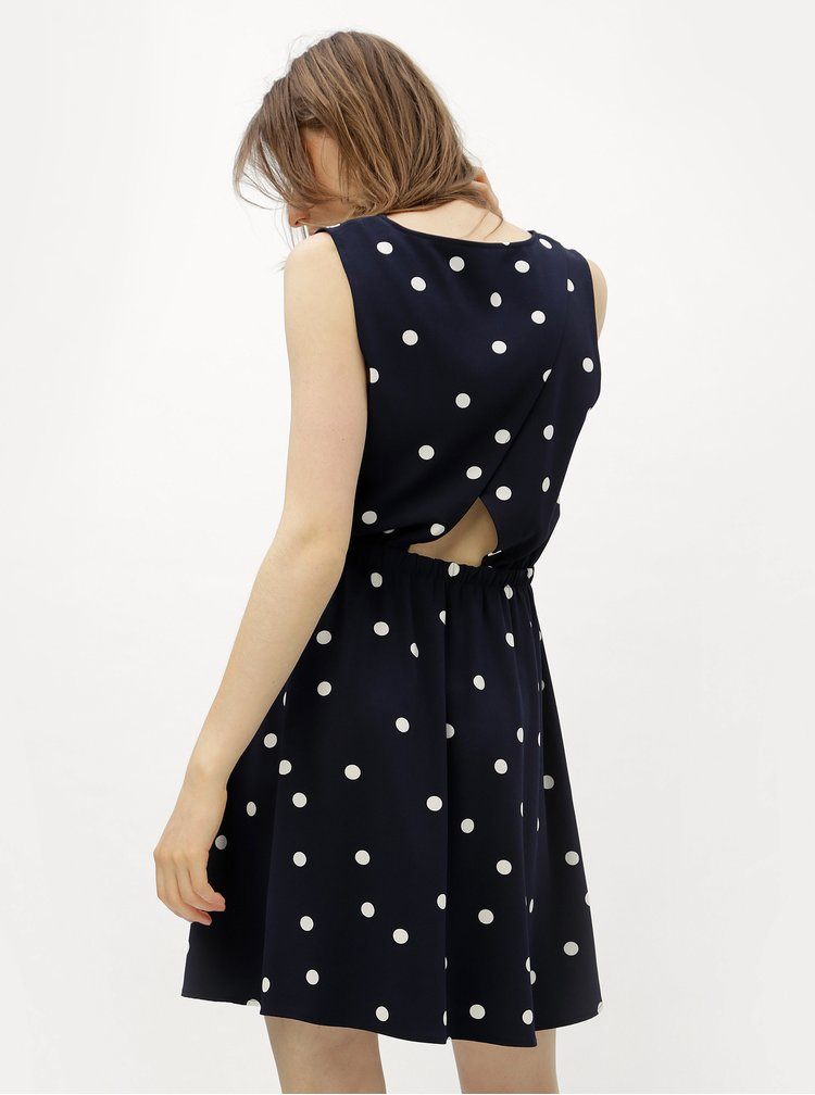 Bílo-modré šaty s překládanou zadní částí ONLY Michelle
