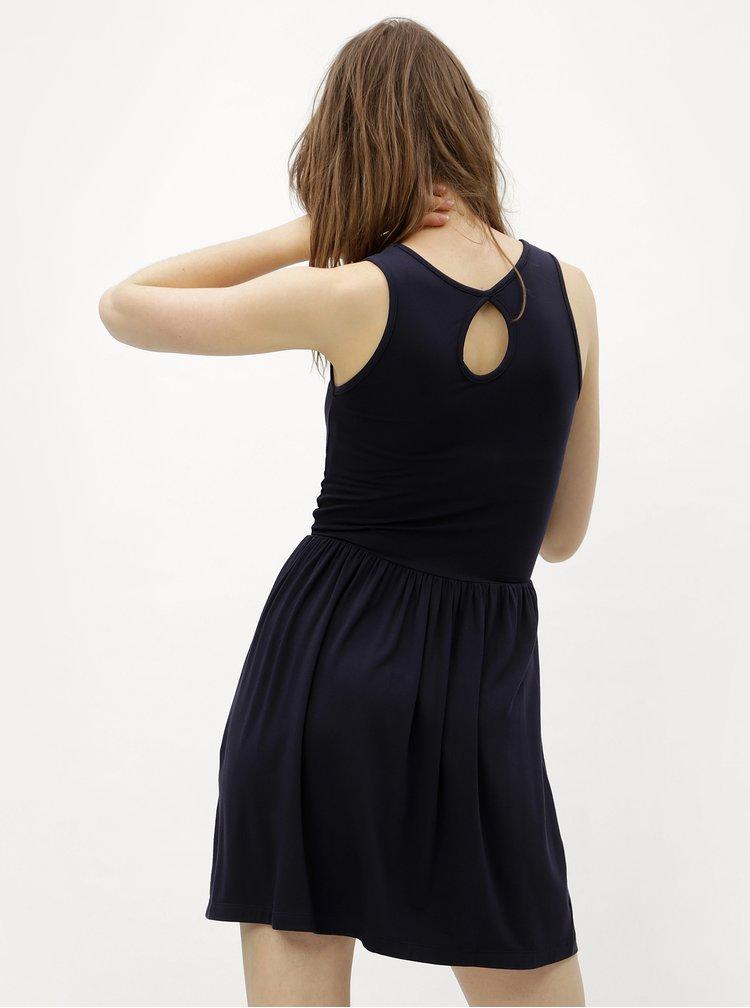 Tmavě modré šaty s průstřihem na zádech ONLY Rina
