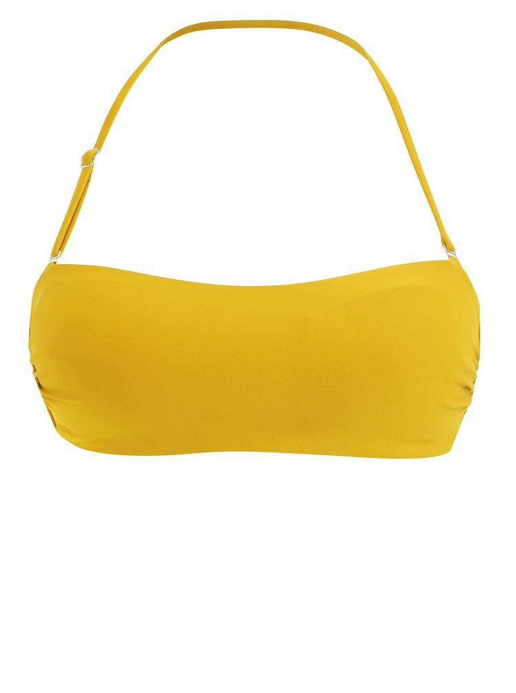 Žlutý horní díl plavek s odepínatelnými ramínky ZOOT