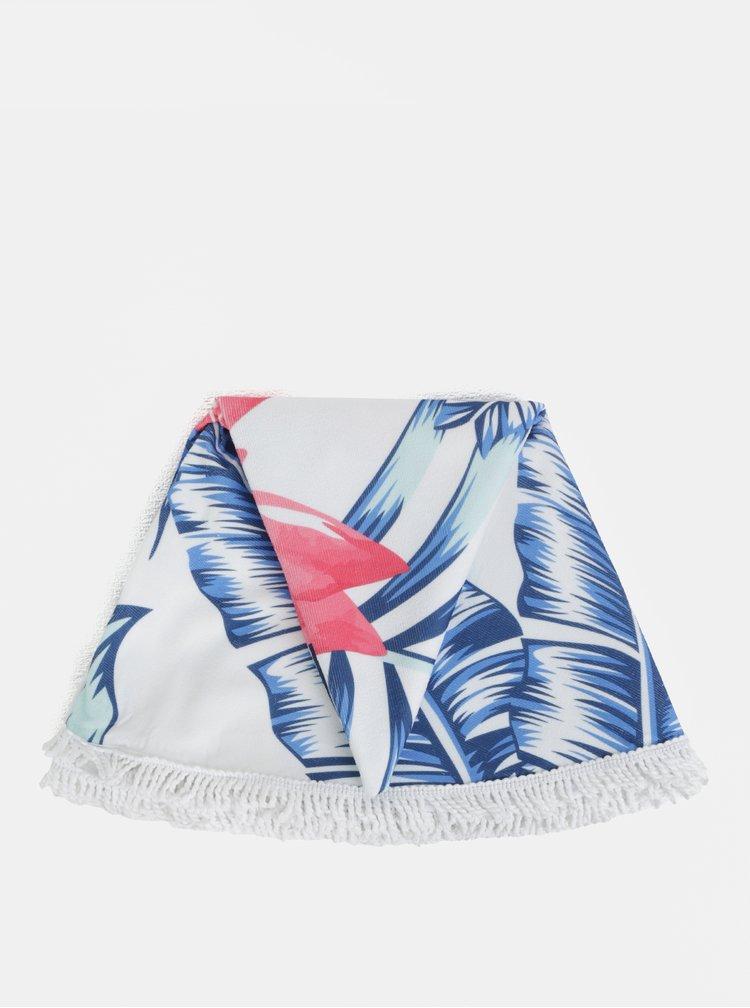 Růžovo-bílá květovaná kulatá plážová deka ZOOT