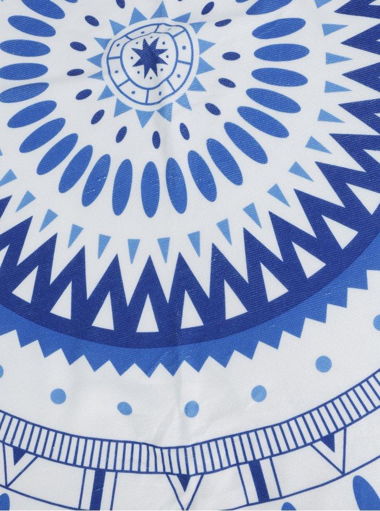 Modro-biela vzorovaná okrúhla plážová deka ZOOT