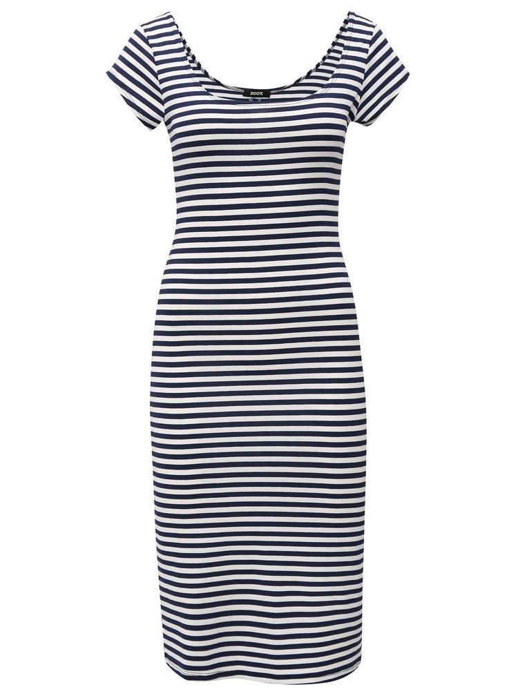 Bílo-modré pruhované šaty s krátkým rukávem  ZOOT