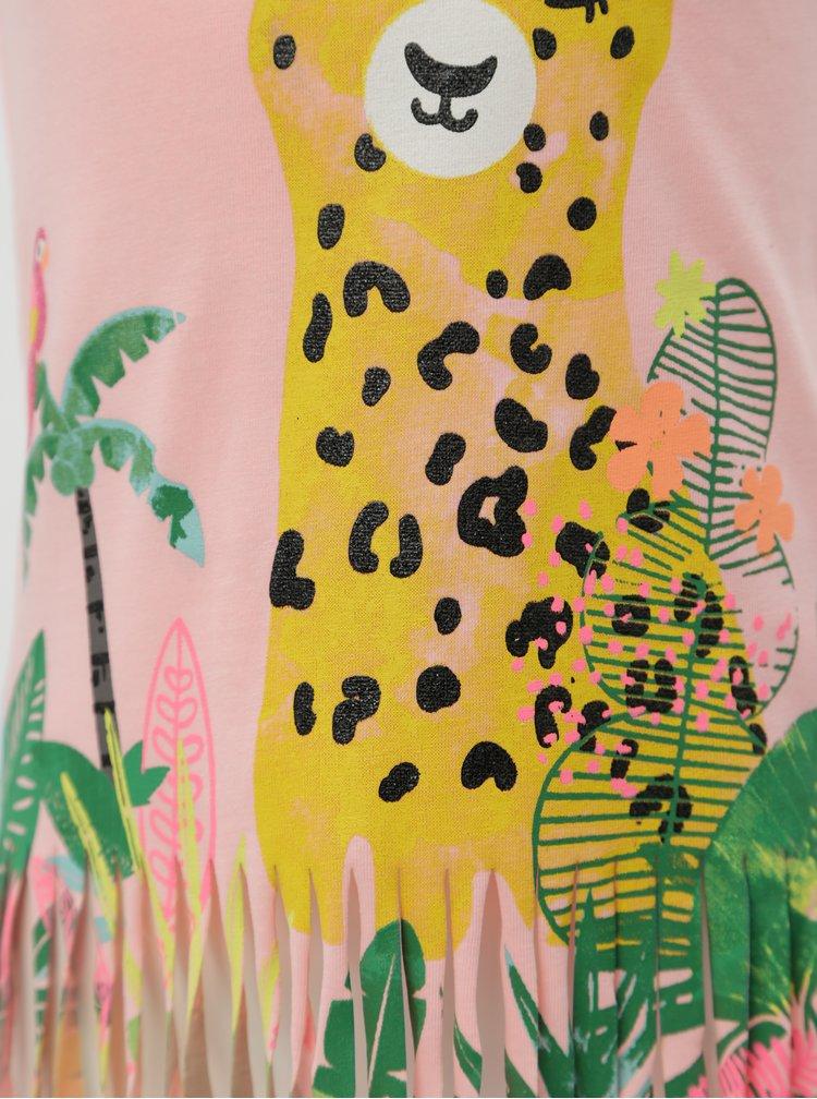 Růžové holčičí vzorované tílko s třásněmi 5.10.15.