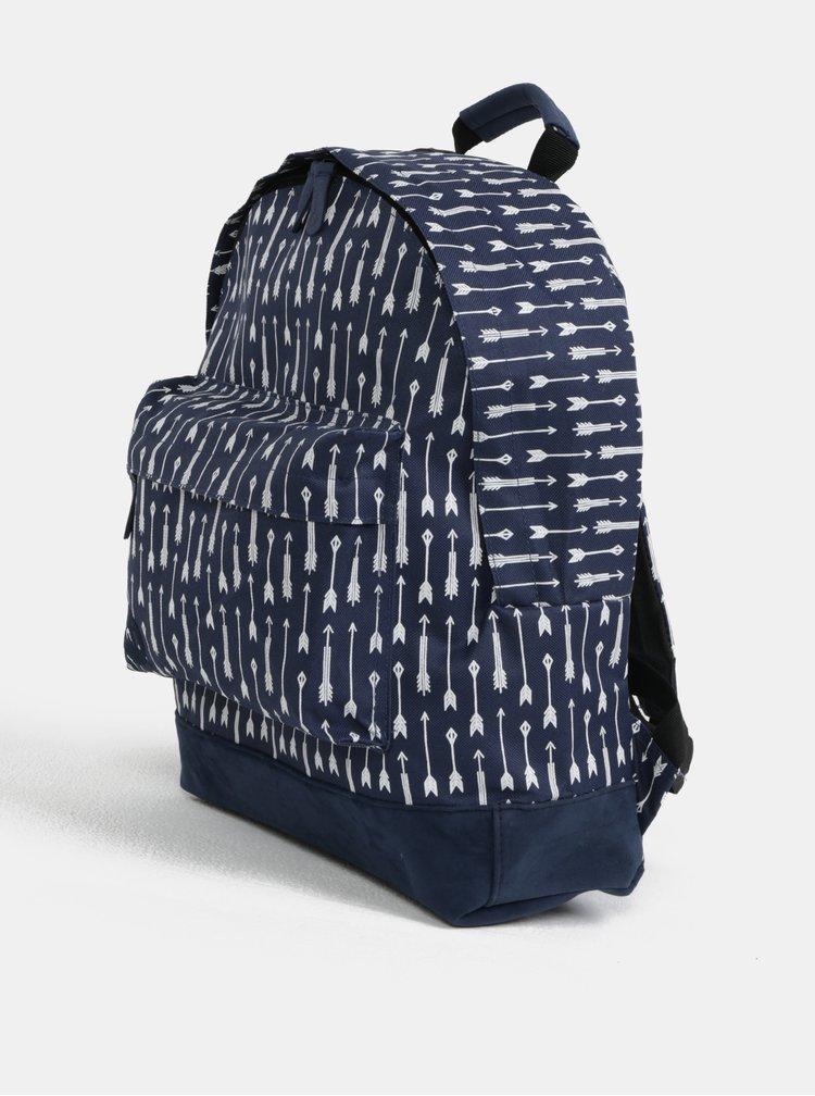 Tmavě modrý vzorovaný voděodolný batoh Mi-Pac Arrows
