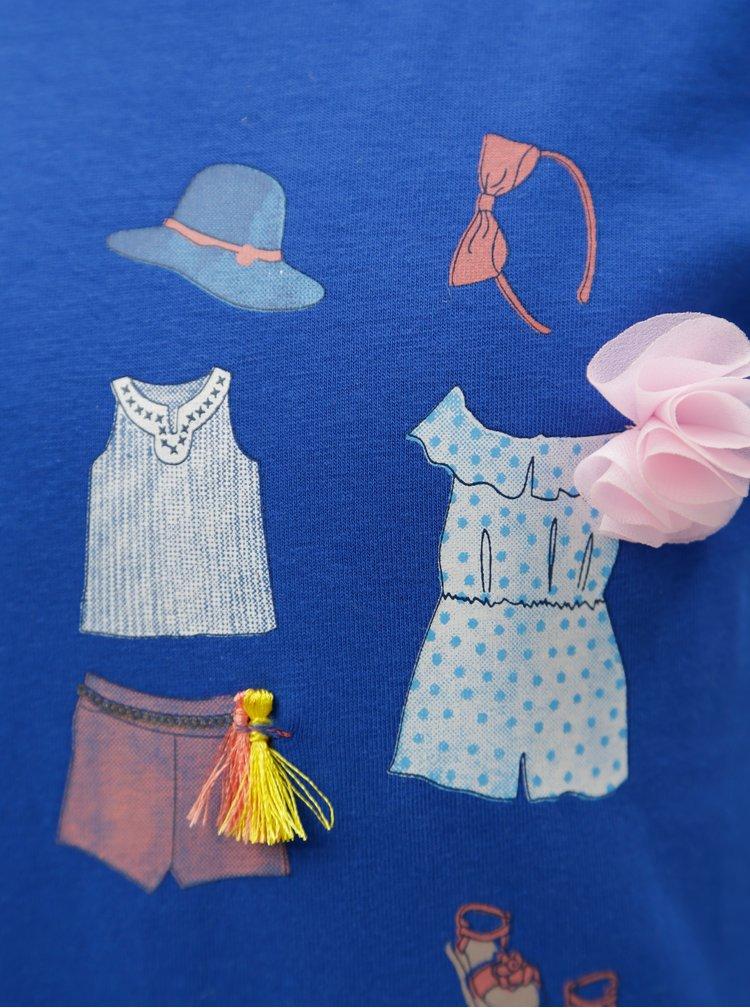Modré holčičí tričko s potiskem 5.10.15.