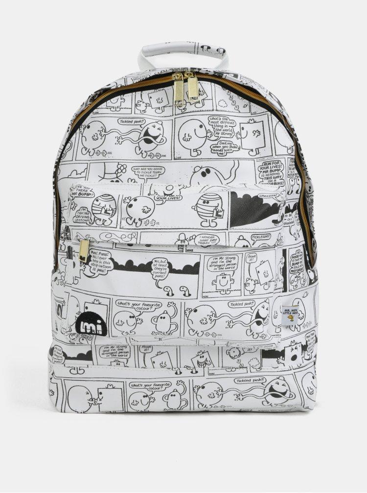 Černo-bílý voděodolný batoh s komiksem Mi-Pac Gold Vintage Strips