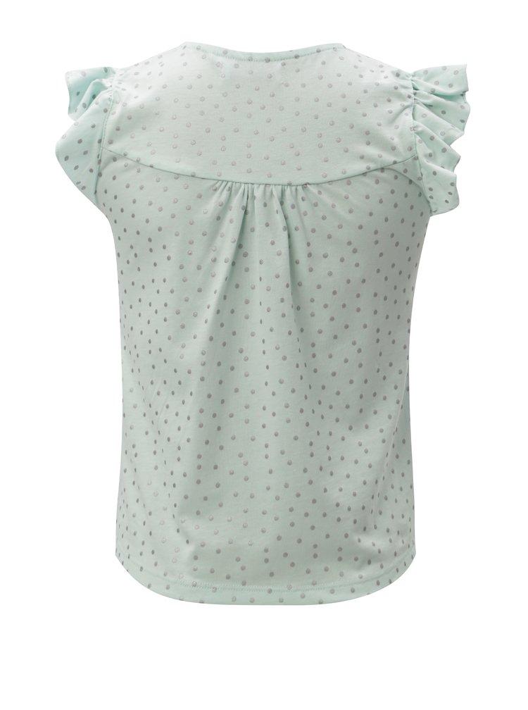 Světle zelené holčičí tričko s volány 5.10.15.