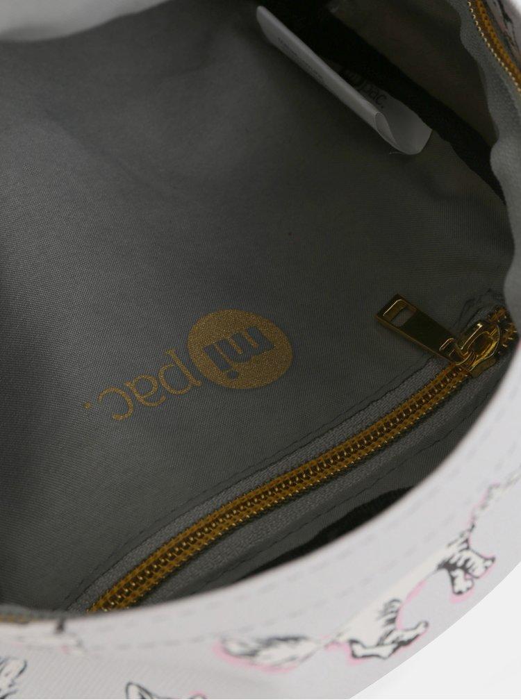 Šedý dámský voděodolný batoh Mi-Pac Gold Super Mini