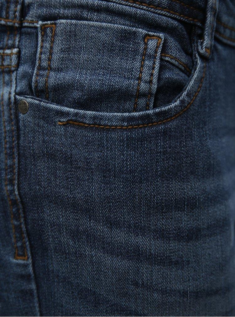 Modré zkrácené slim fit džíny s nízkým pasem VERO MODA Five