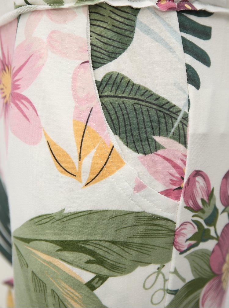 Bílé květované tepláky Haily´s Jada