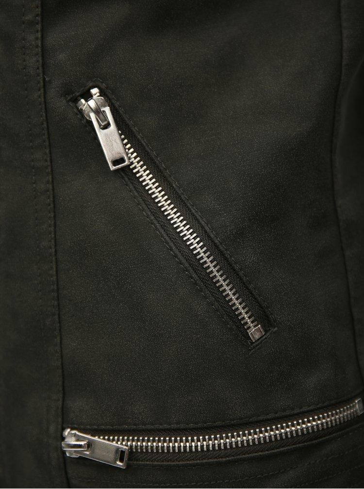 Khaki koženkový křivák VERO MODA World