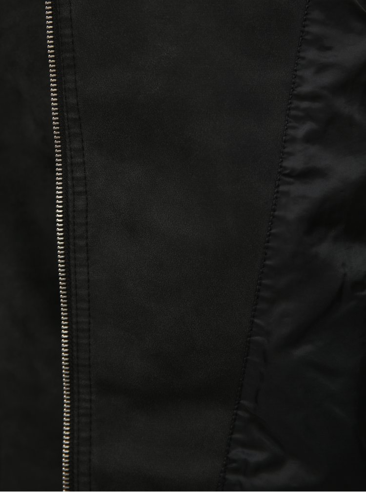 Jacheta biker neagra din piele sintetica VERO MODA World
