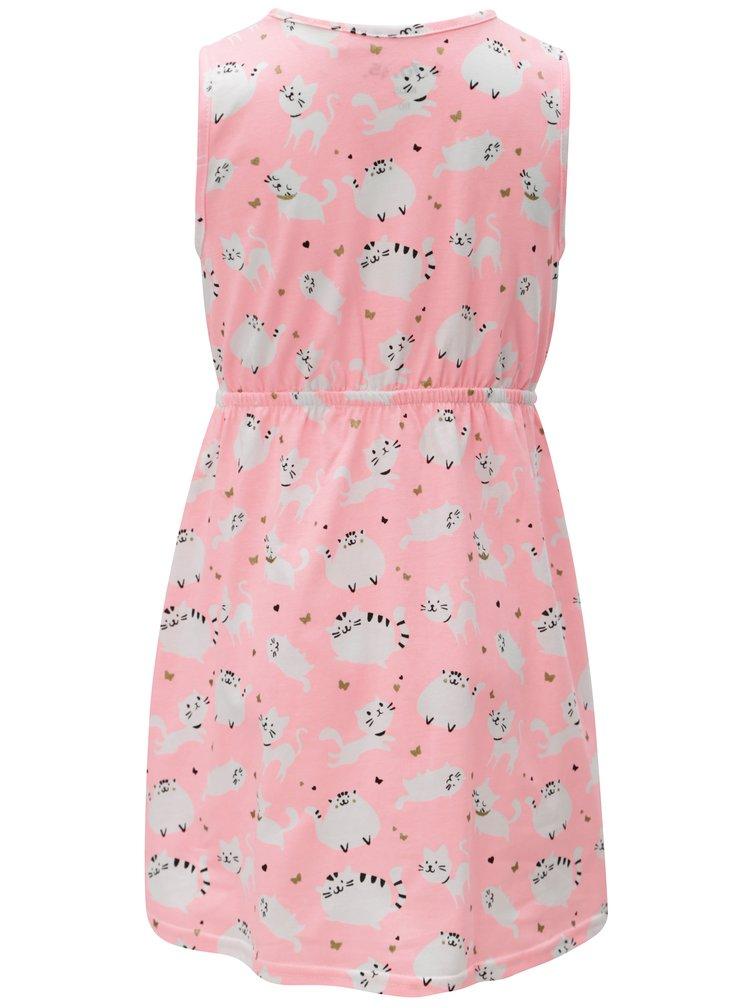 Růžové holčičí vzorované šaty 5.10.15.
