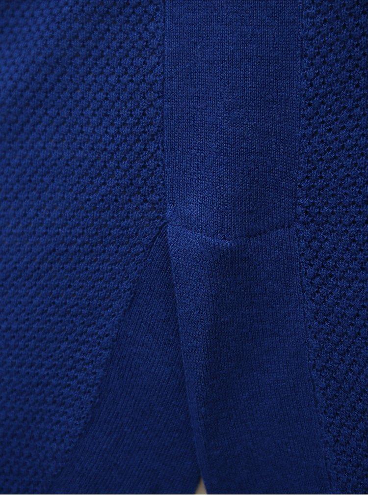 Modrý lehký oversize svetr s 3/4 rukávem VERO MODA Sana