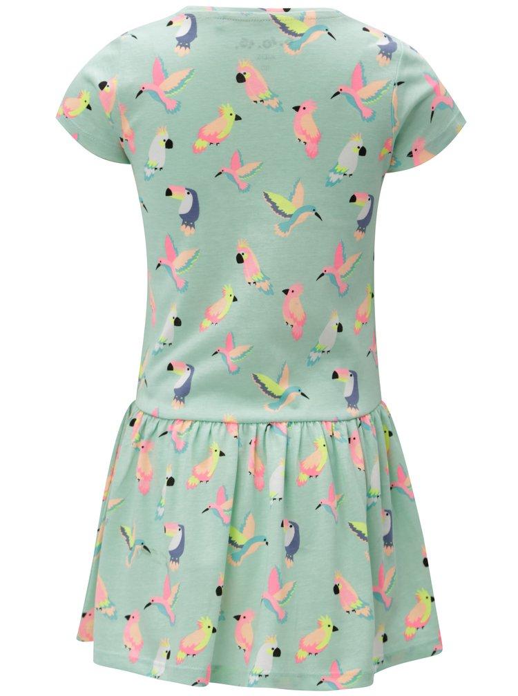 Světle zelené holčičí vzorované šaty 5.10.15.