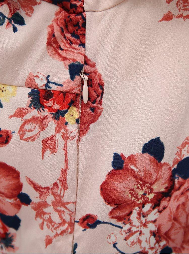 Světle růžové květované maxišaty VERO MODA Ane