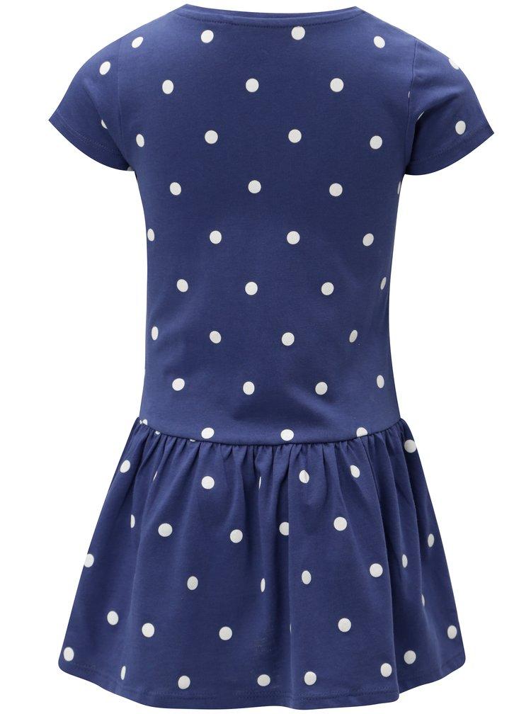 Modré holčičí puntíkované šaty 5.10.15.