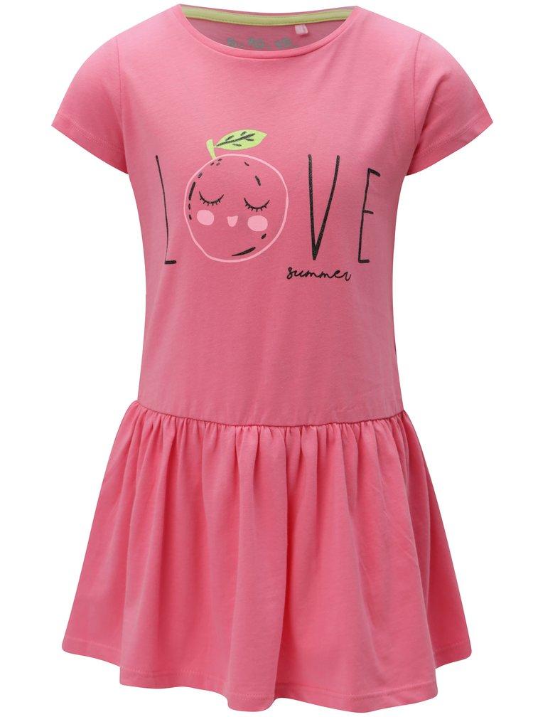 Růžovéholčičí šaty s potiskem 5.10.15.