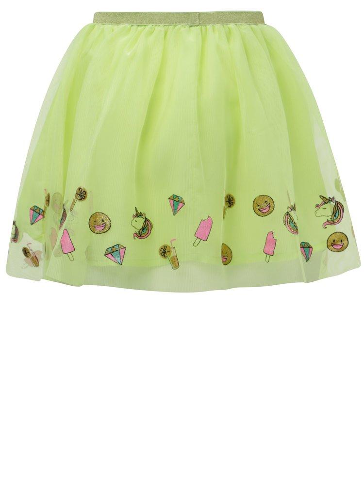 Neonově zelená holčičí tylová sukně 5.10.15.