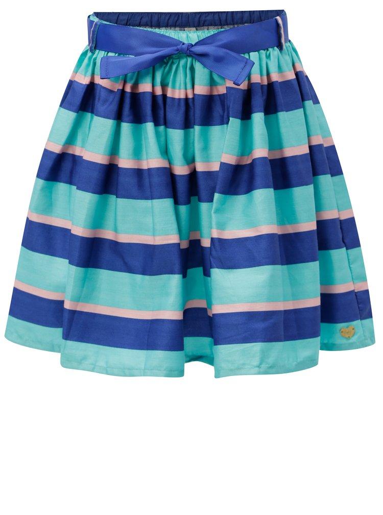 Modrá holčičí pruhovaná sukně s páskem 5.10.15.