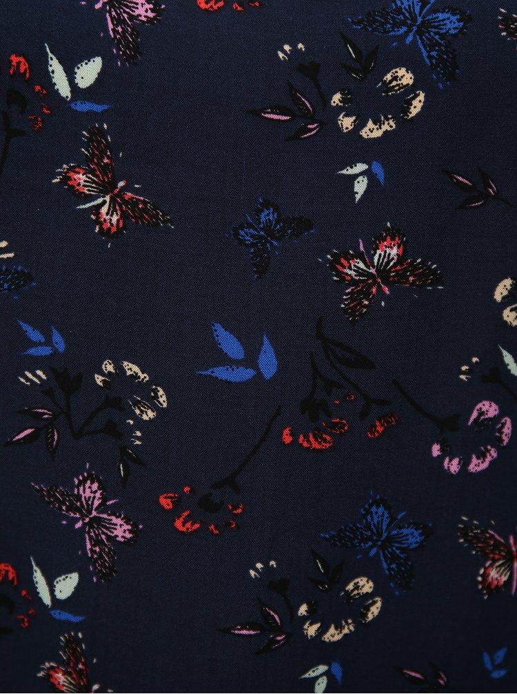 Tmavě modré tílko s motivem motýlů VERO MODA Simply