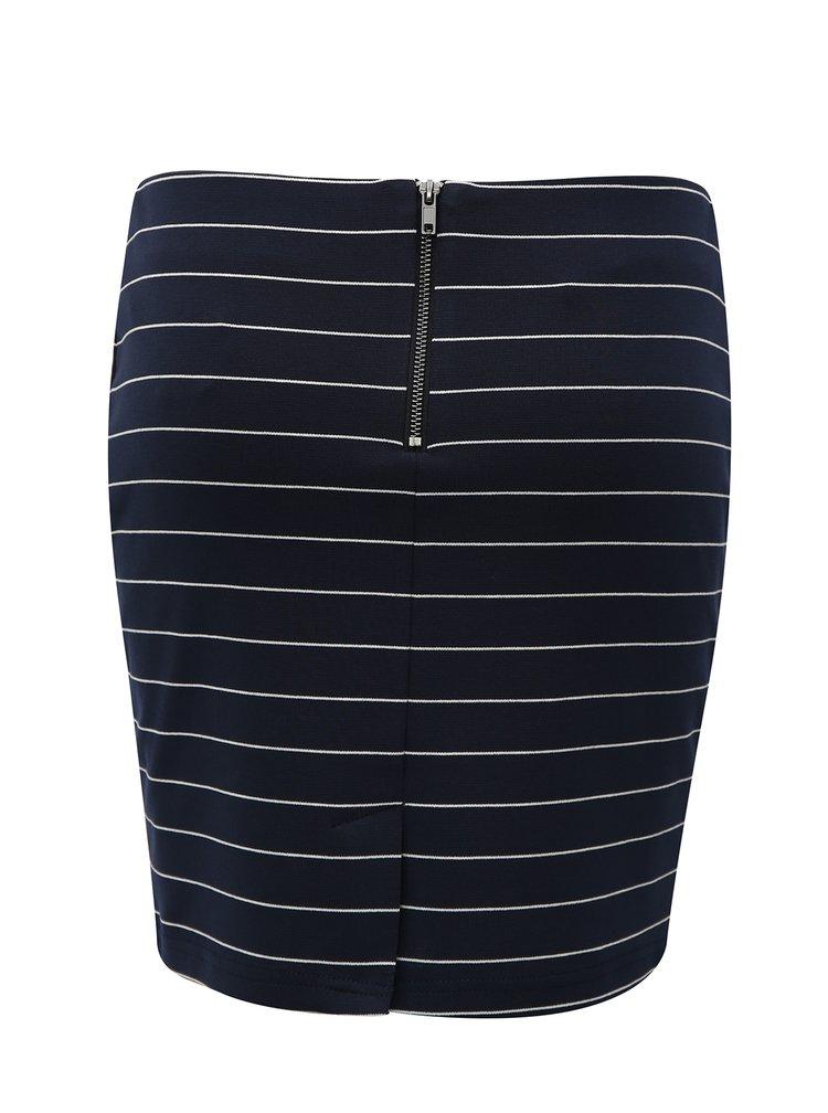 Tmavě modrá pruhovaná sukně VILA Tinny