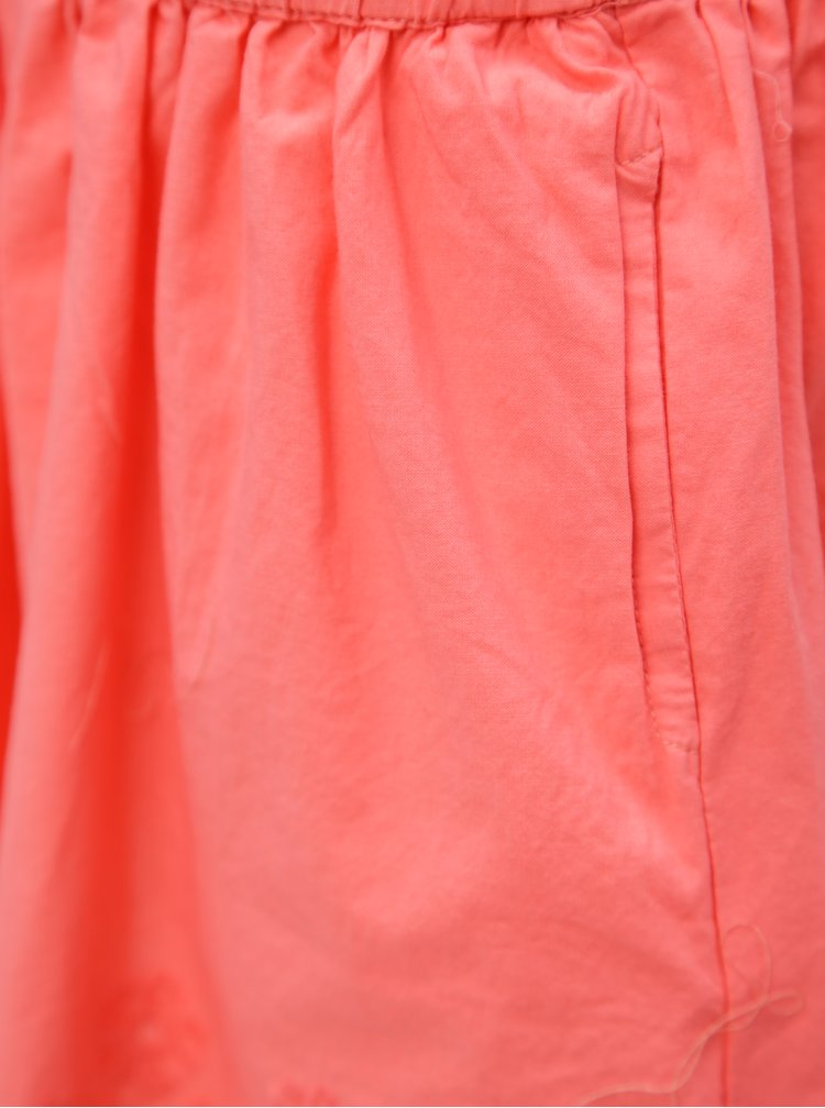 Růžová holčičí sukně s krajkou 5.10.15.
