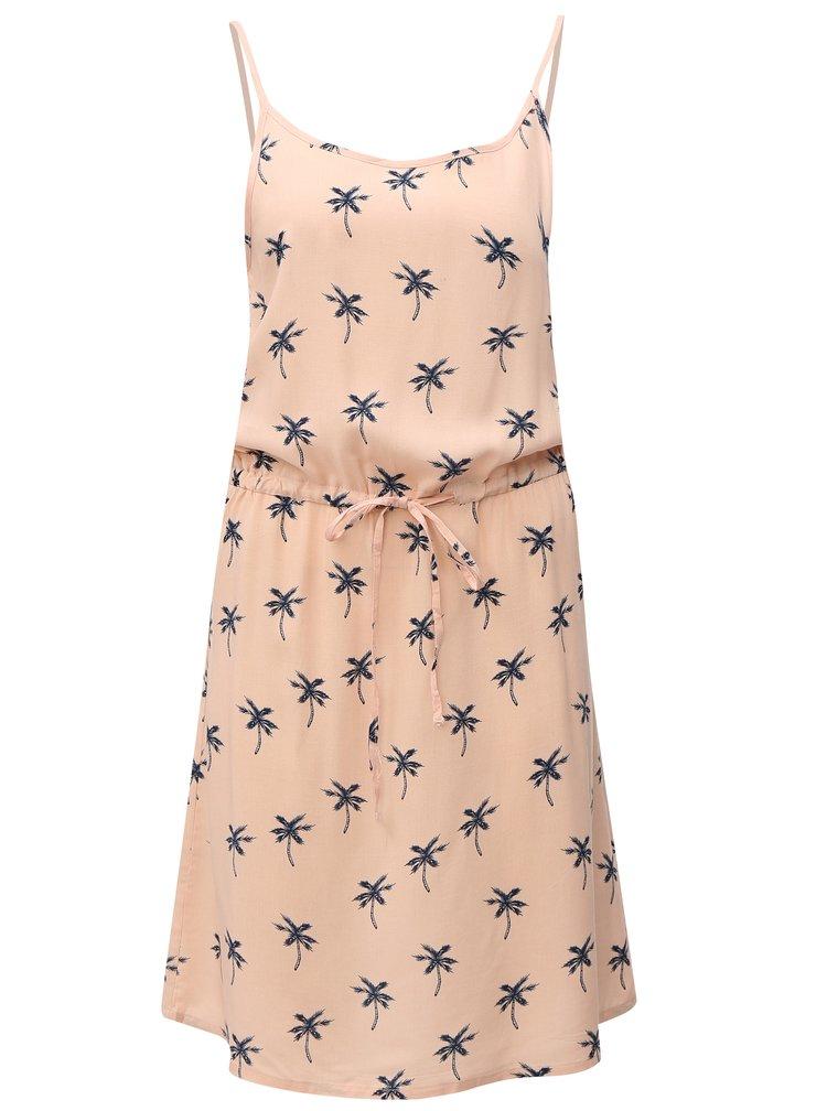 Růžové šaty s palmami Haily´s Tabea